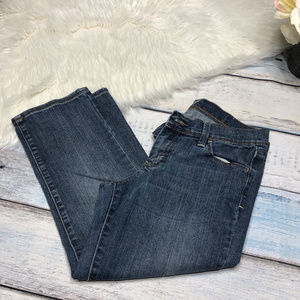 Old Navy the Flirt cropped blue jeans, size 2